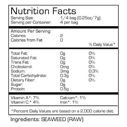 Raw Seaweed - SeaSnax RAW RAW RAW