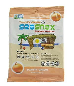 SeaSnax Organic Toasty Onion Single